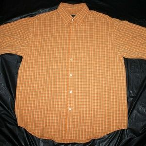 Bugatchi Uomo Mens Short Sleeve Button Front Shirt